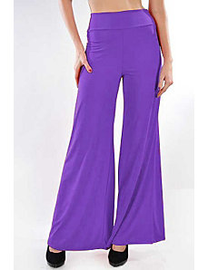Purple Oh So Easy Pants by Fashion Love