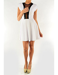 White Capital Dress by Fashion Love