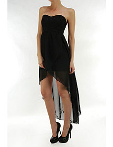 Black Bay Hi Low Dress by Fashion Love