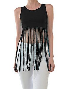 Free Fringe Top by Fashion Love