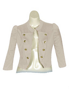 Khaki Sassy Jacket by Fashion Love
