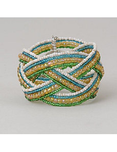 Striped Braid Cuff Bracelet by Marlene's Jewels