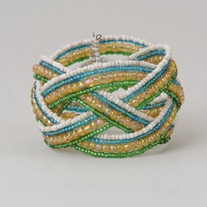 Striped Braid Cuff Bracelet