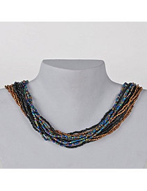 Dark Middy Necklace by Marlene's Jewels