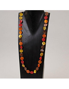Long Hot Disk Necklace by Marlene's Jewels