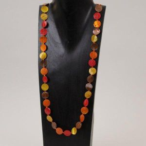 Long Hot Disk Necklace