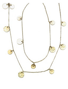 Gold Antique Circle Necklace by Marlene's Jewels