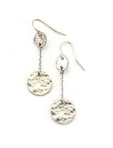 Silver Antique Circle Earrings by Marlene's Jewels