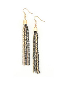 Gold Raindrop Earrings by Marlene's Jewels