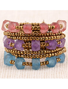 Jewel Tone Maui Cuff Bracelet by Marlene's Jewels