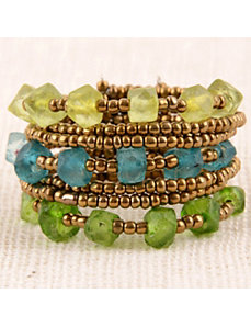 Seaside Maui Cuff Bracelet by Marlene's Jewels