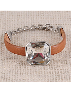 The Big Bling Leather Bracelet by Marlene's Jewels