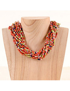 Berry Bold Bead Necklace by Marlene's Jewels