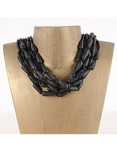Lava Six Strand Necklace by Marlene's Jewels