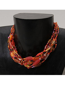 Glam 6-Strand Necklace by Marlene's Jewels