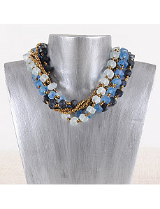 Navy Seaside Maui Necklace by Marlene's Jewels