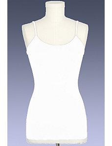 White Ribbed Camisole by Active Basic