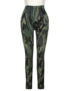Olive Camouflage Legging by Active Basic