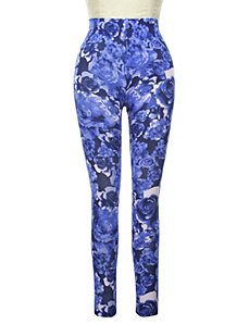 Rose Print Legging by Active Basic