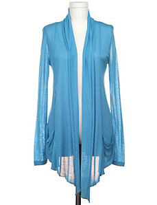 Sheer Draped Cardigan by Active Basic