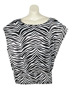 Multi Color Zebra Top by Unique