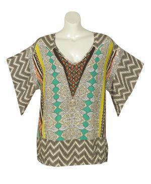 Cool Colors Kimono Top