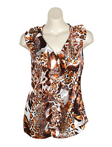 Animal Print Top by Unique