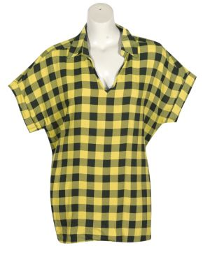 Yellow Plaid Top