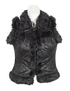 Black Fur Vest by Last Kiss