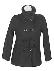 Black Frozen Fun Coat by Last Kiss