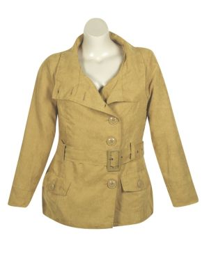 Gold Faux Suede Jacket