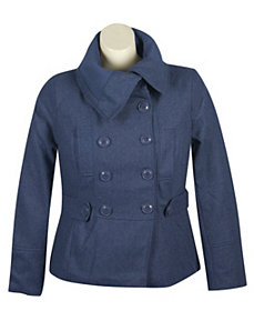 Navy Pea Coat by Last Kiss
