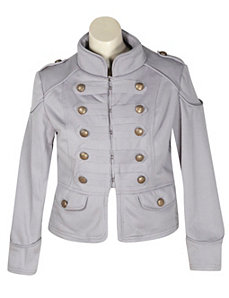 Go Grey Military Coat by Last Kiss