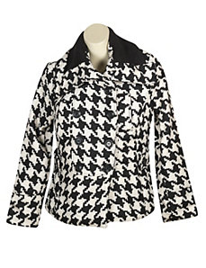 Black Heaven Houndstooth Coat by Last Kiss