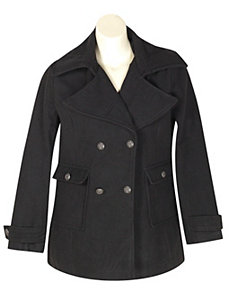 Black Magic Pea Coat by Last Kiss