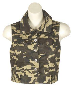 Olive Camouflage Vest