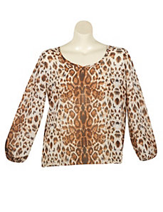 Animal Print Top by Last Kiss