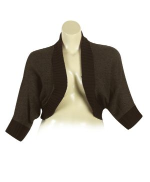 Brown Dolman Sleeve Cardigan