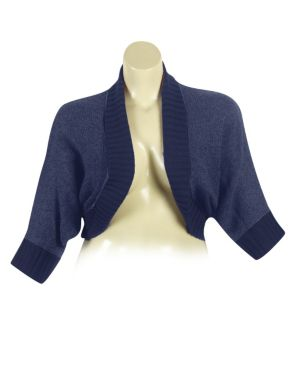 Navy Dolman Sleeve Cardigan