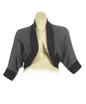 Gray Dolman Sleeve Cardigan