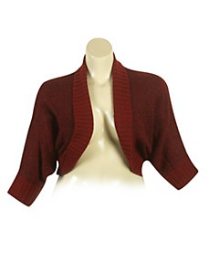 Wine Dolman Sleeve Cardigan by Derek Heart