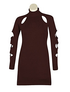 Brown Cut It Out Dress by Derek Heart