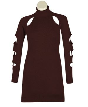 Brown Cut It Out Dress