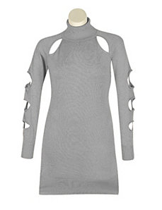 Grey Cut It Out Dress by Derek Heart