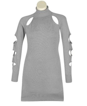 Grey Cut It Out Dress