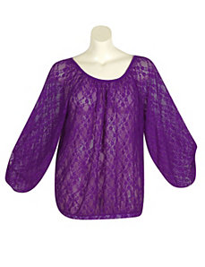 Purple Lucky Lace Top by Derek Heart
