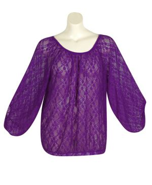 Purple Lucky Lace Top