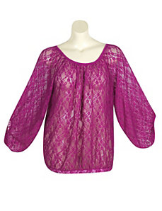 Berry Lucky Lace Top by Derek Heart