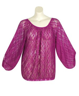 Berry Lucky Lace Top