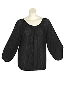 Black Lucky Lace Top by Derek Heart